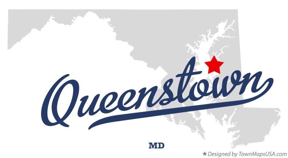 Map of Queenstown Maryland MD