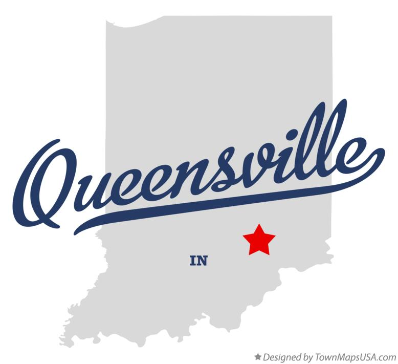 Map of Queensville Indiana IN