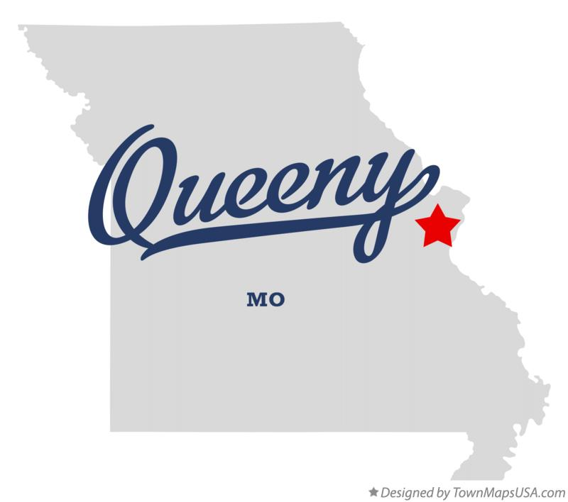 Map of Queeny Missouri MO