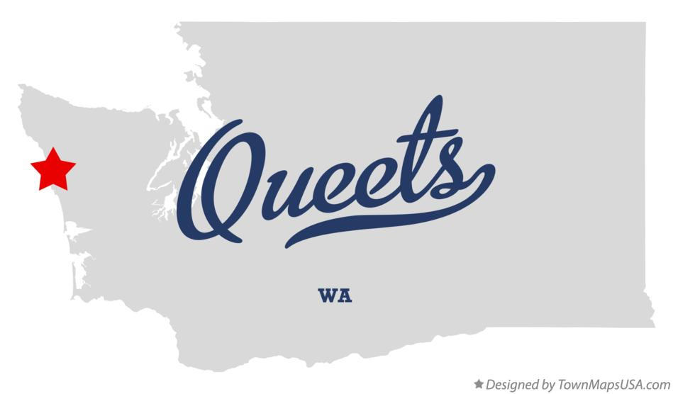 Map of Queets Washington WA