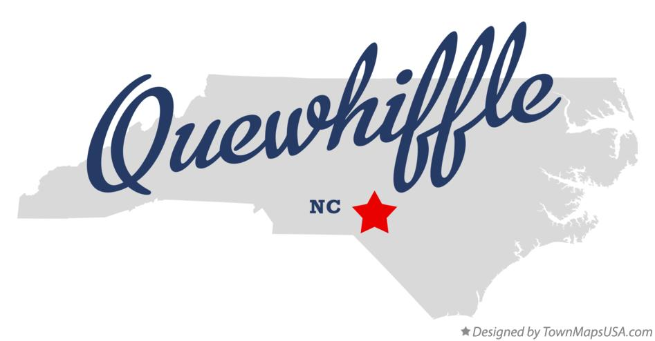 Map of Quewhiffle North Carolina NC
