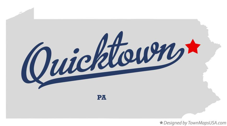 Map of Quicktown Pennsylvania PA
