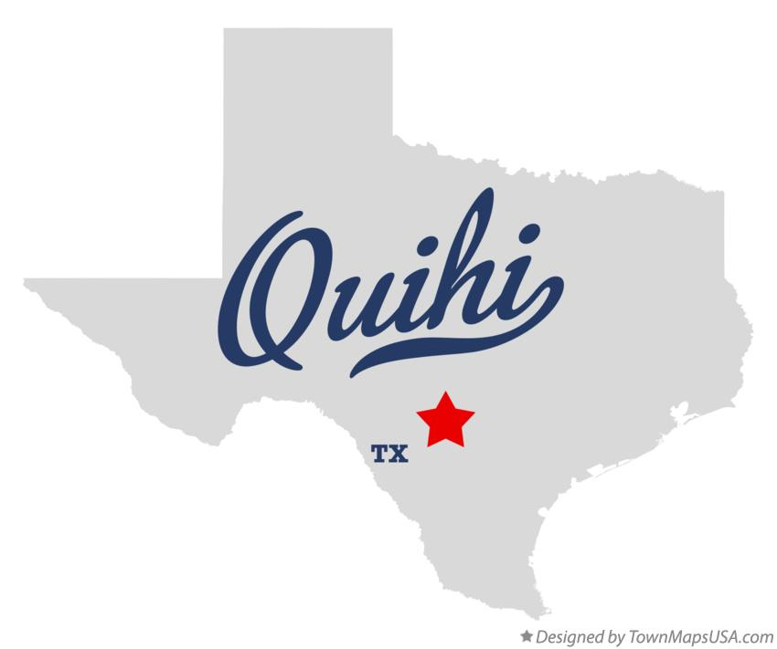 Map of Quihi Texas TX