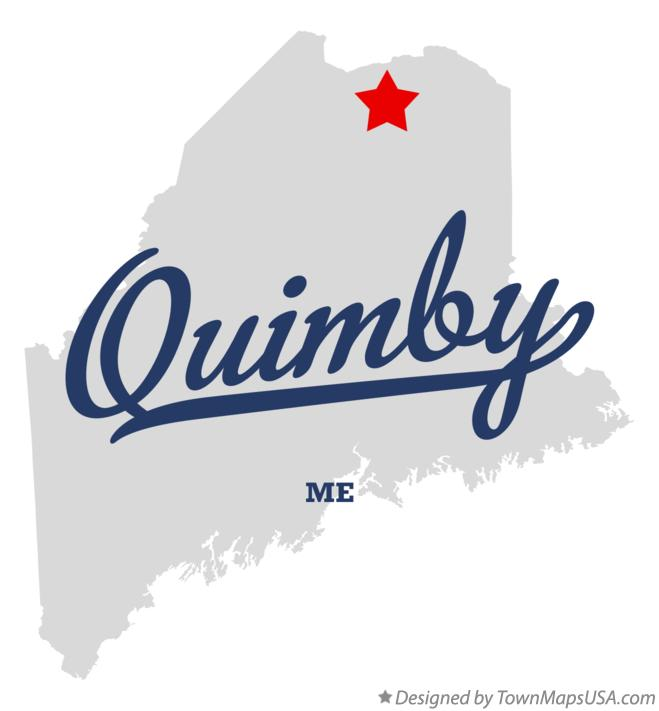 Map of Quimby Maine ME
