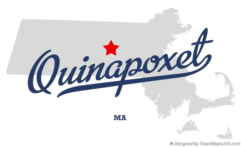 Map of Quinapoxet Massachusetts MA