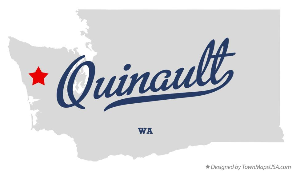 Map of Quinault Washington WA