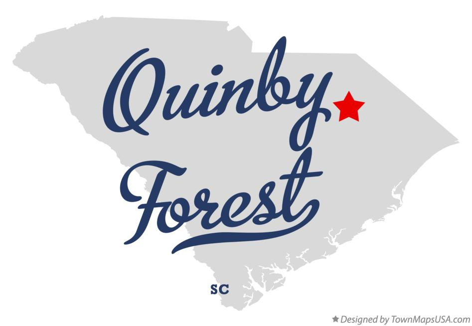 Map of Quinby Forest South Carolina SC