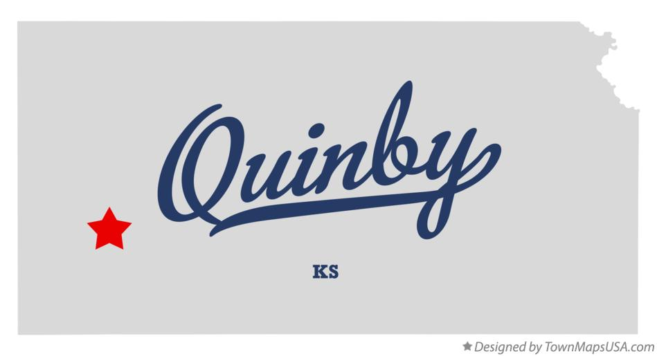 Map of Quinby Kansas KS