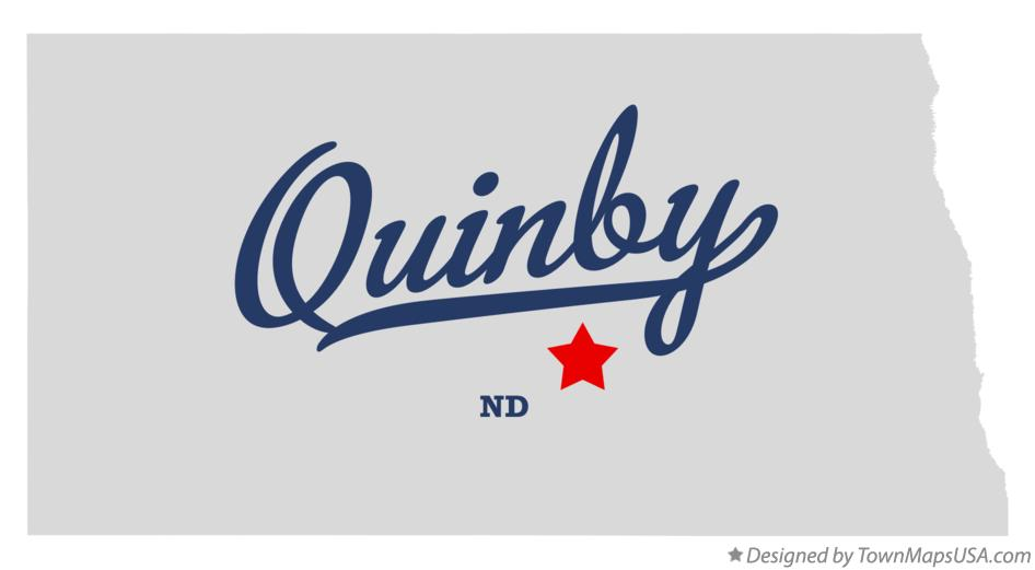 Map of Quinby North Dakota ND