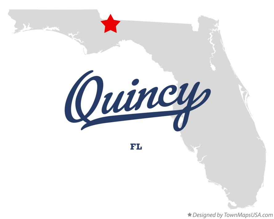 Map of Quincy Florida FL