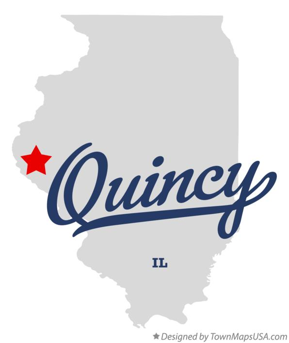 Map of Quincy Illinois IL