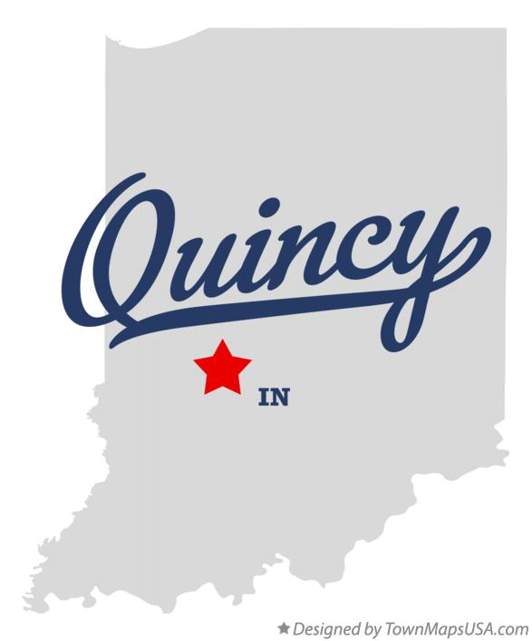 Map of Quincy Indiana IN