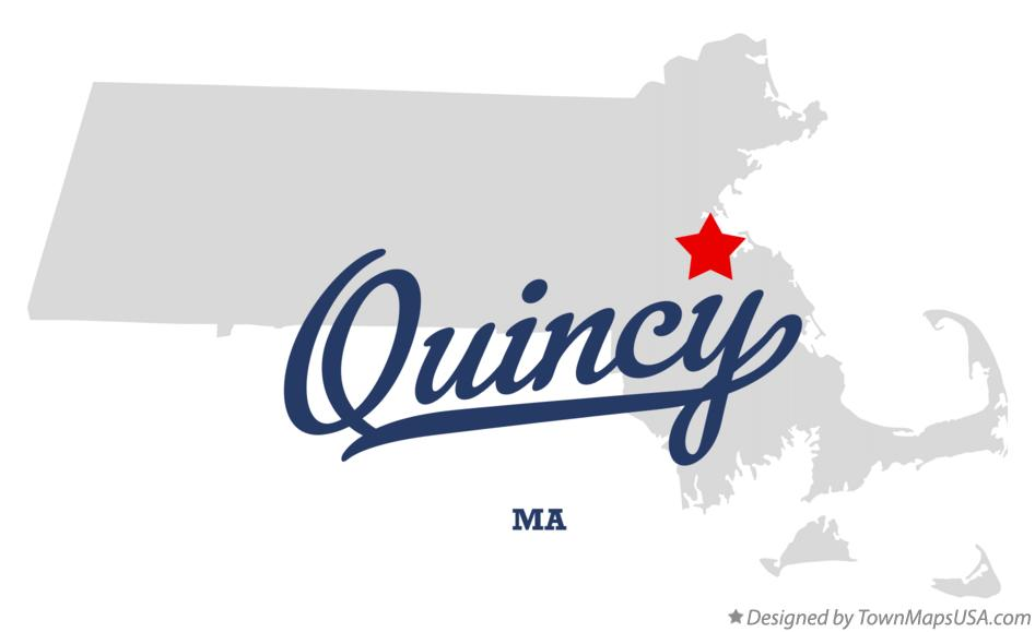 Map Of Quincy Ma Massachusetts