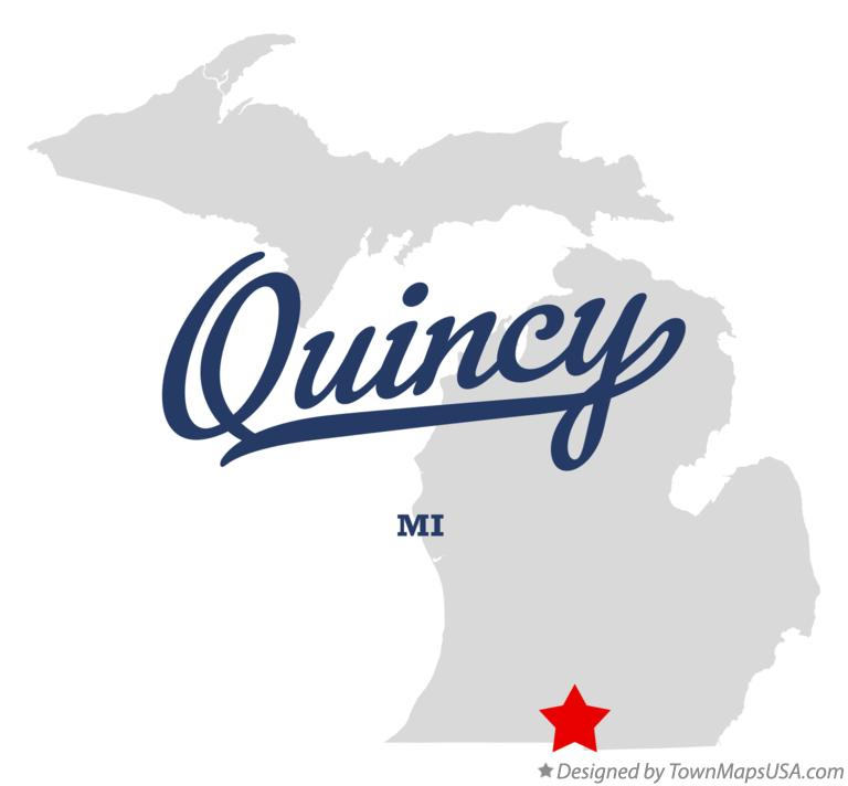 Map of Quincy Michigan MI