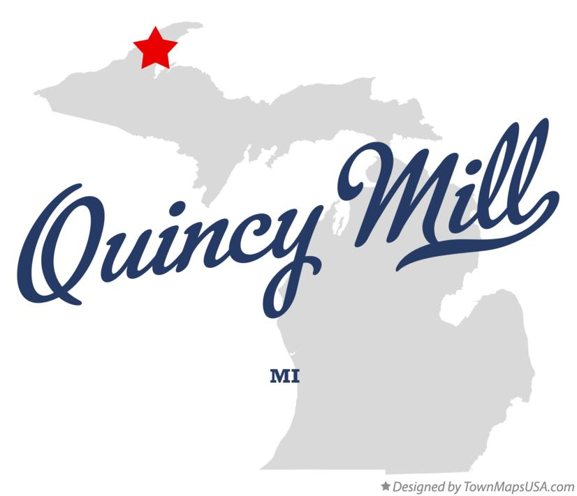 Map of Quincy Mill Michigan MI