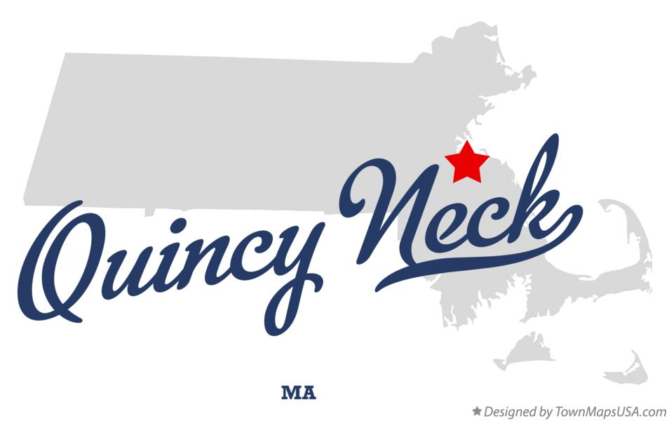 Map of Quincy Neck Massachusetts MA