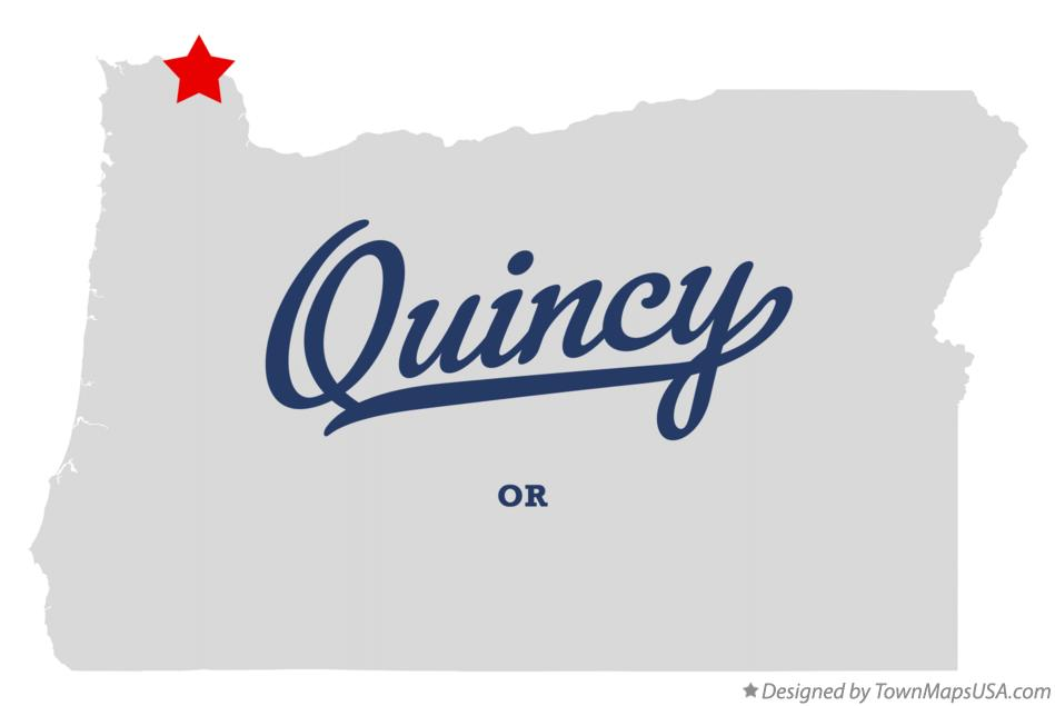 Map of Quincy Oregon OR