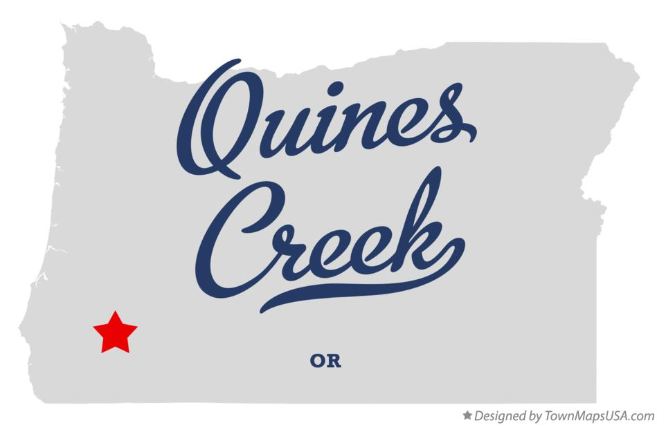 Map of Quines Creek Oregon OR