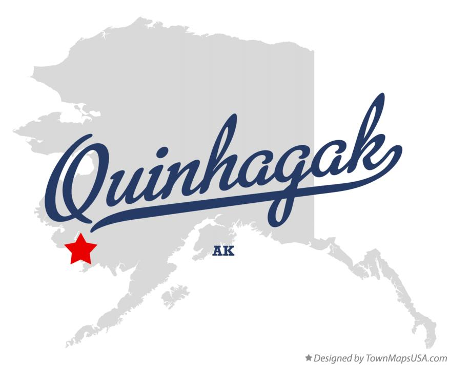 Map of Quinhagak Alaska AK