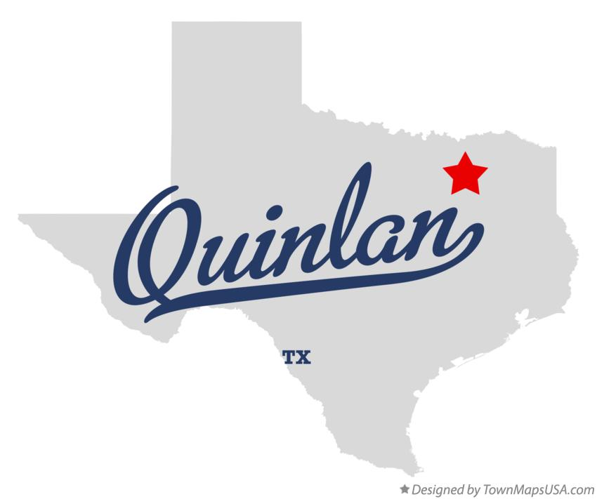 Map of Quinlan Texas TX