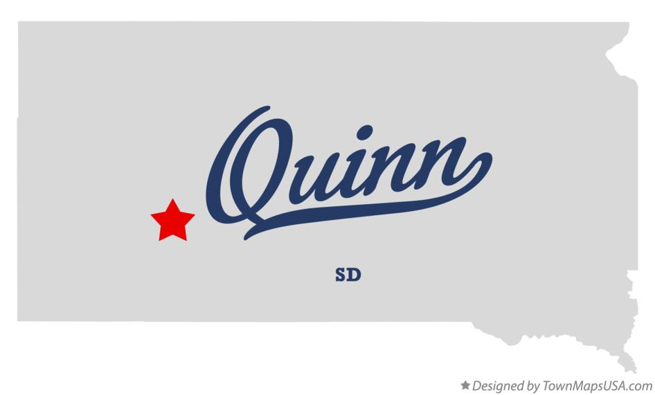 Map of Quinn South Dakota SD