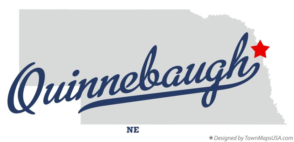 Map of Quinnebaugh Nebraska NE