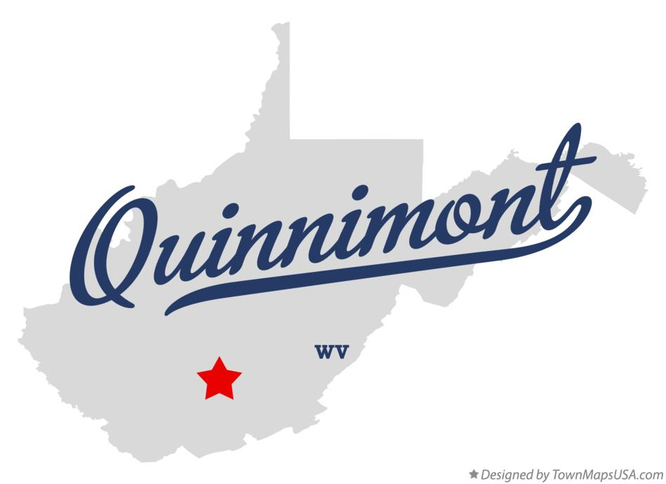 Map of Quinnimont West Virginia WV