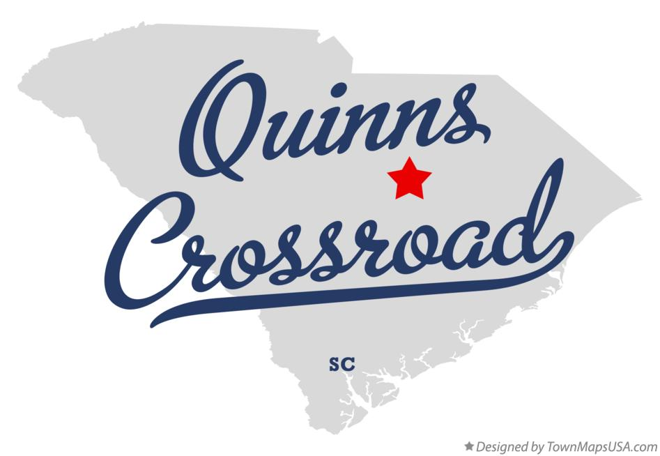 Map of Quinns Crossroad South Carolina SC