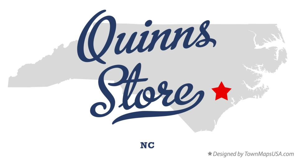 Map of Quinns Store North Carolina NC