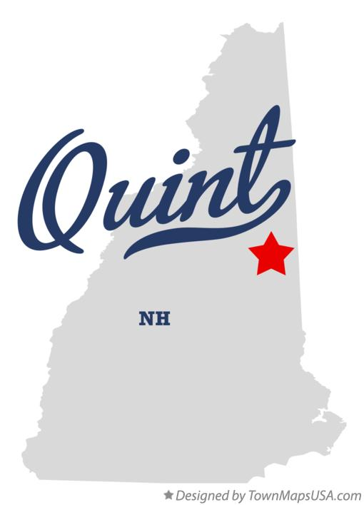 Map of Quint New Hampshire NH