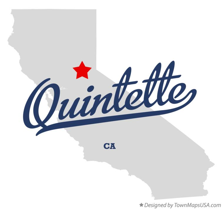 Map of Quintette California CA