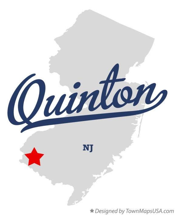 Map of Quinton New Jersey NJ