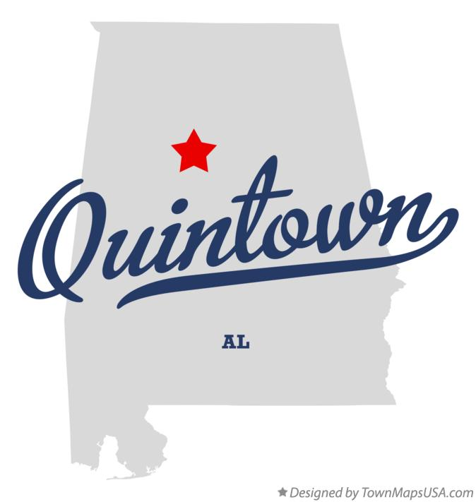 Map of Quintown Alabama AL