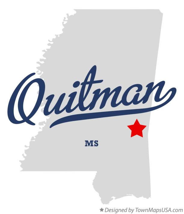 Map of Quitman Mississippi MS