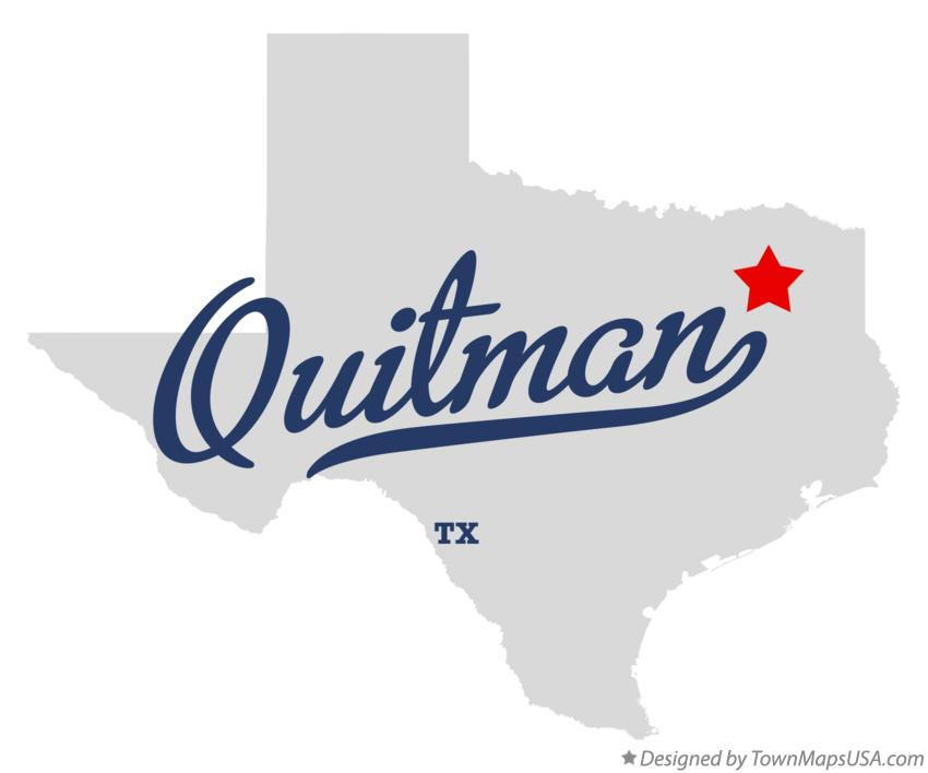 Map of Quitman Texas TX
