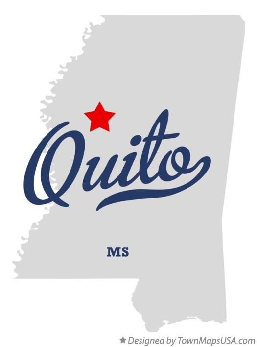 Map of Quito Mississippi MS