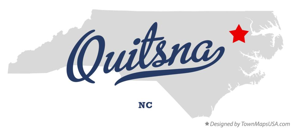 Map of Quitsna North Carolina NC