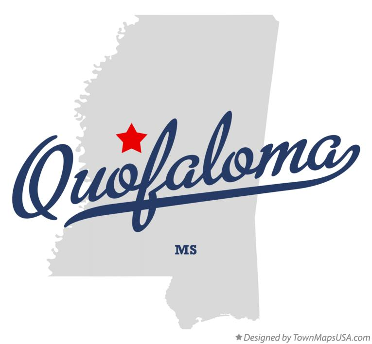 Map of Quofaloma Mississippi MS