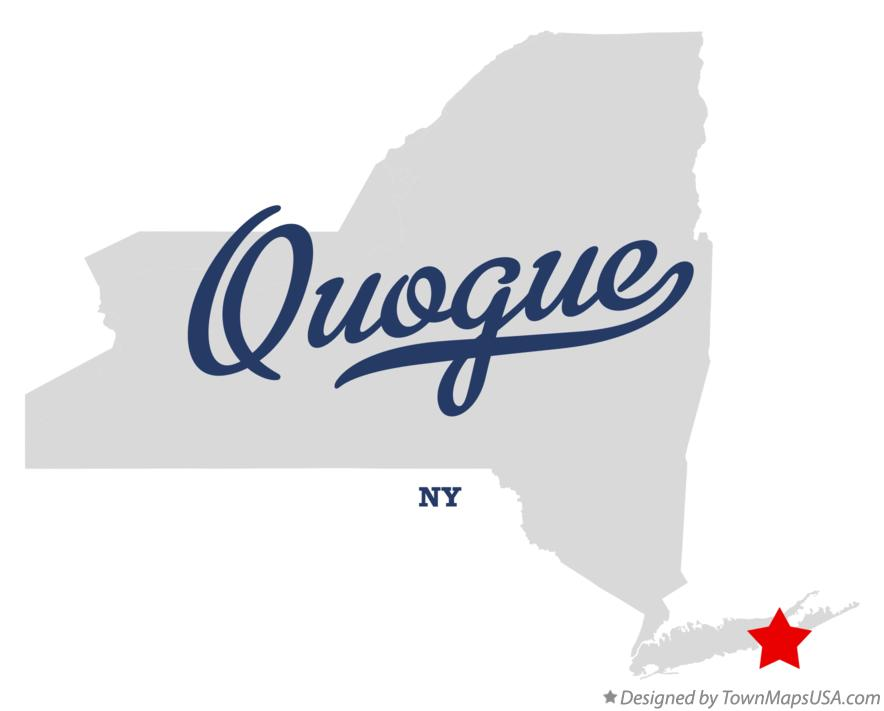 Map of Quogue New York NY