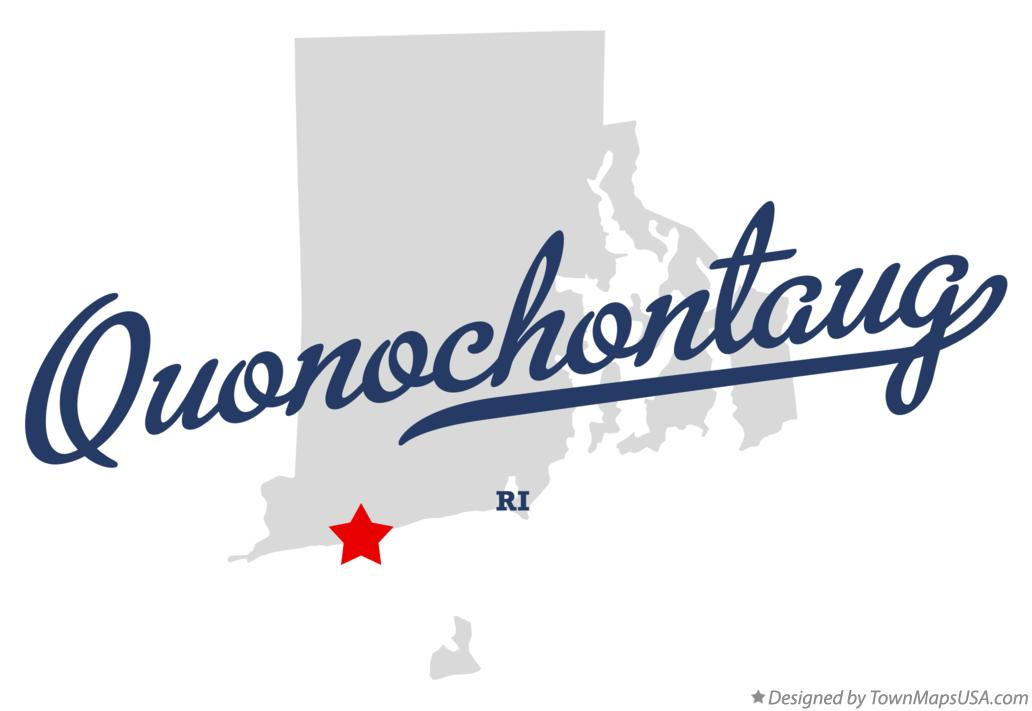 Map of Quonochontaug Rhode Island RI