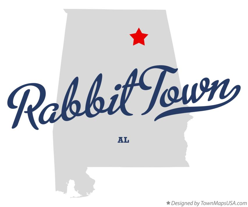 Map of Rabbit Town Alabama AL