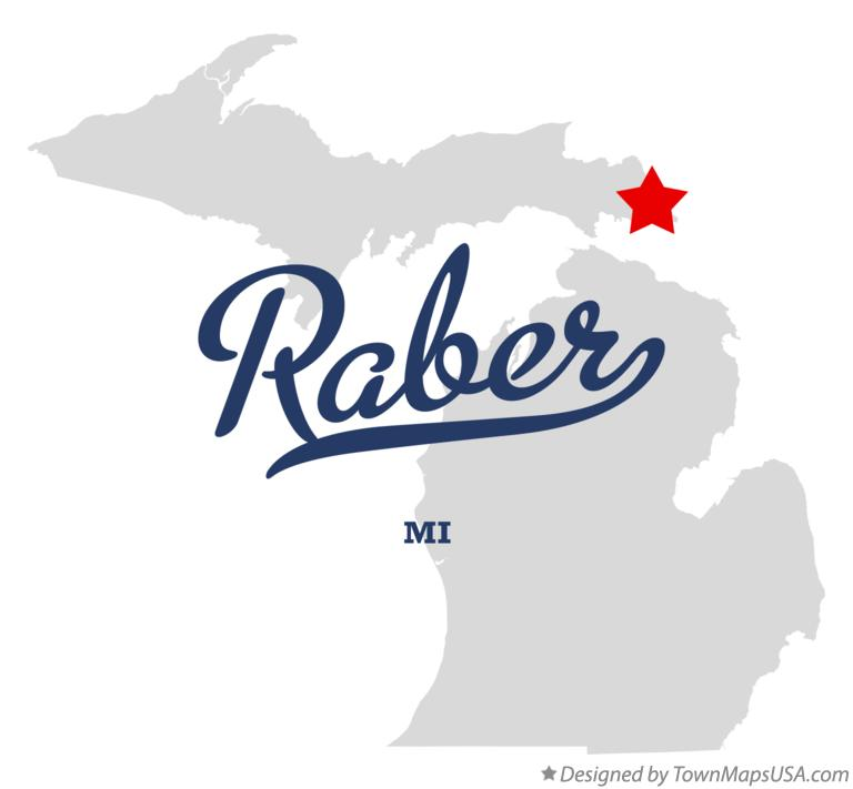 Map of Raber Michigan MI
