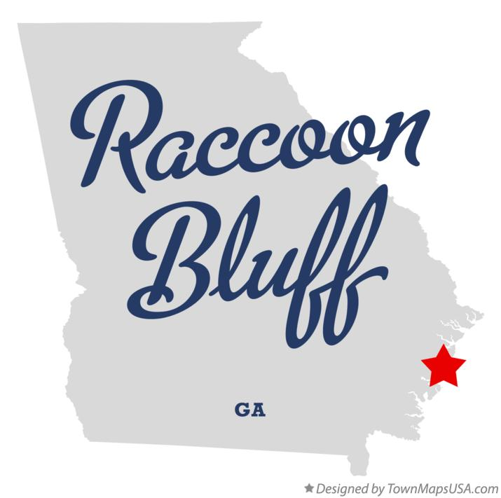 Map of Raccoon Bluff Georgia GA