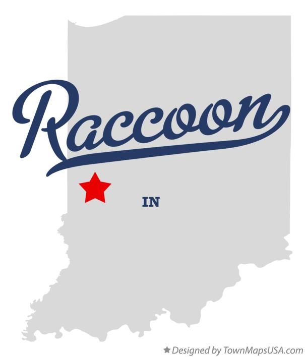 Map of Raccoon Indiana IN