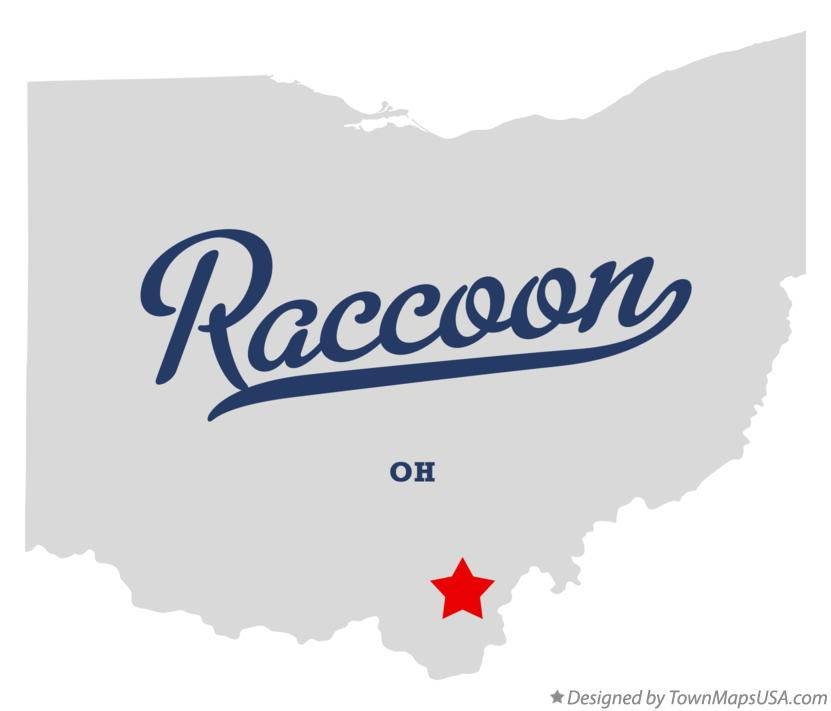 Map of Raccoon Ohio OH