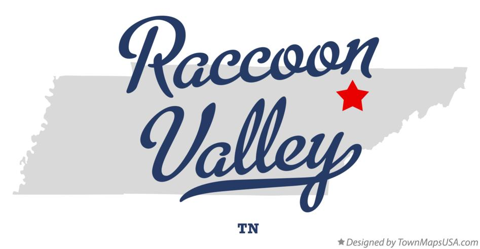 Map of Raccoon Valley Tennessee TN