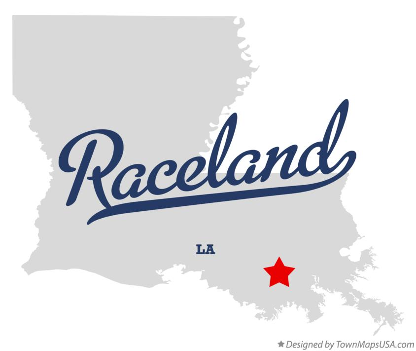 Map of Raceland Louisiana LA