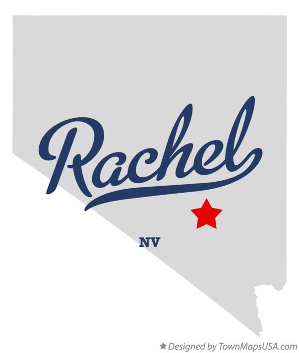 Map of Rachel Nevada NV