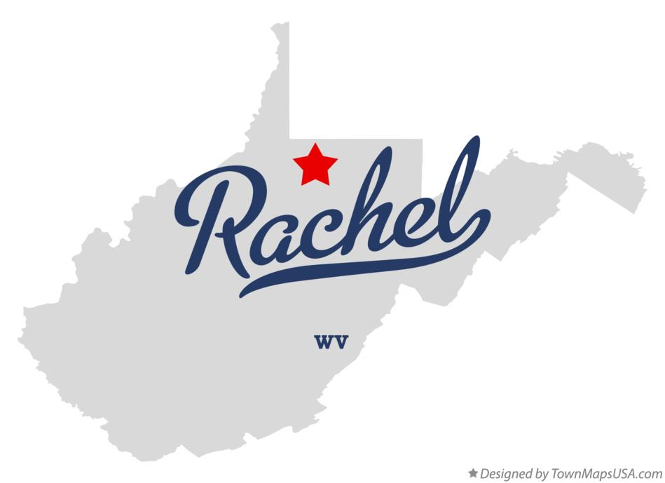 Map of Rachel West Virginia WV