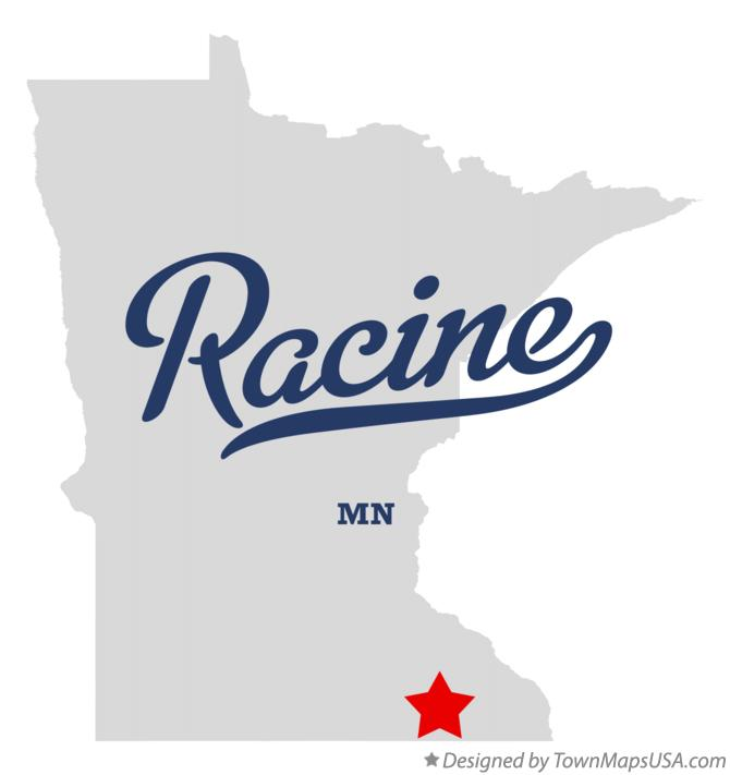 Map of Racine Minnesota MN